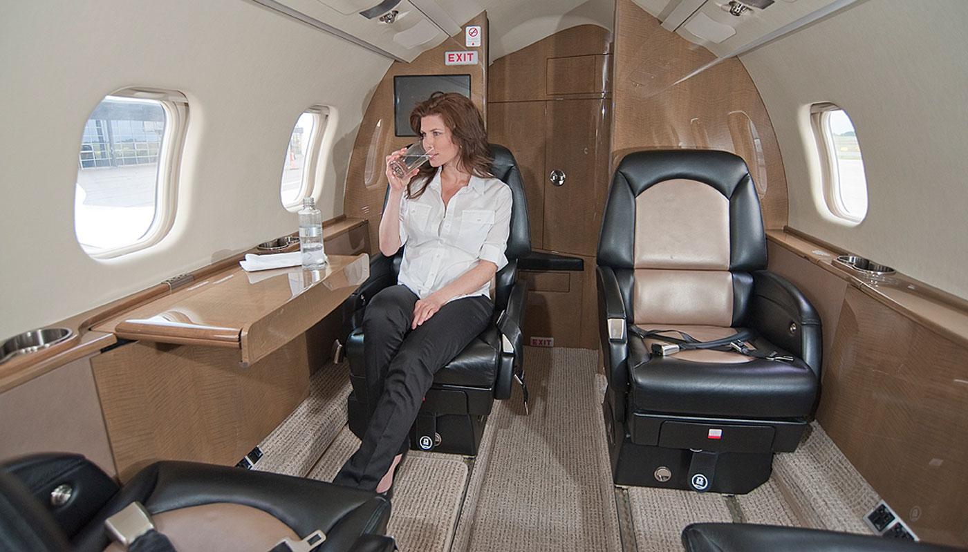 Learjet 60 Interior