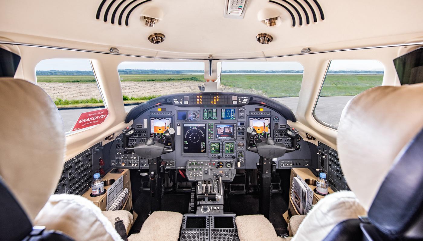 2008 Citation XLS Cockpit View