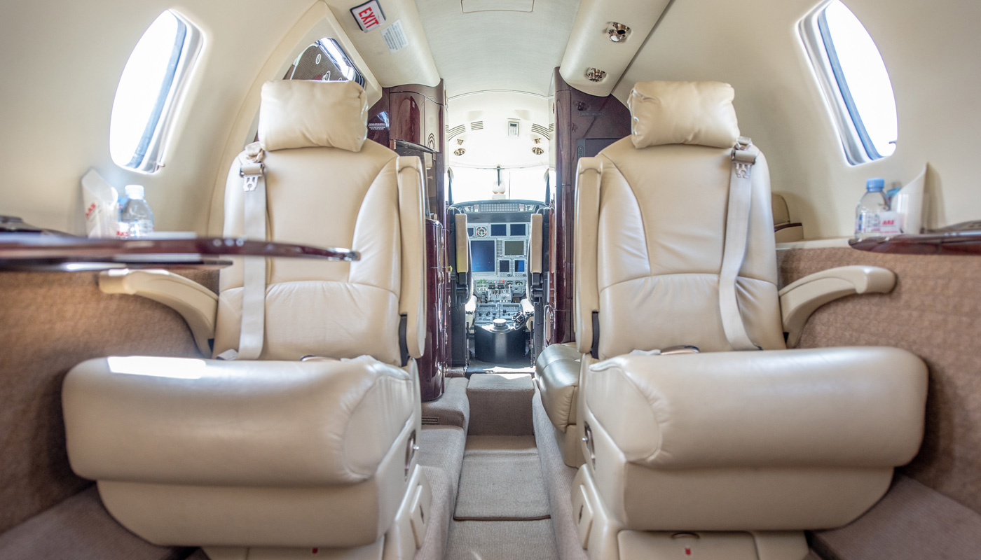 2008 Citation XLS Seats In Light Khaki Leather And Matching Carpets