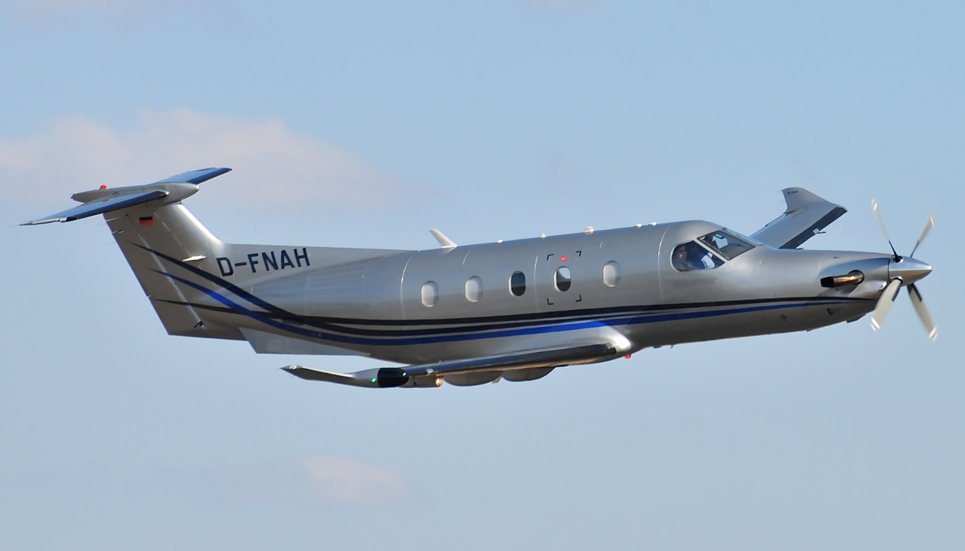 Pilatus PC-12 Fly By