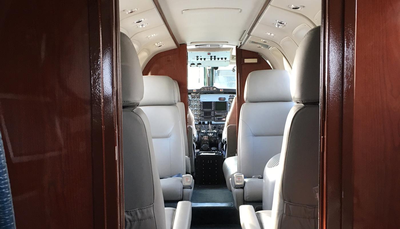 1977 Beech Super King Air Refurbished Interior