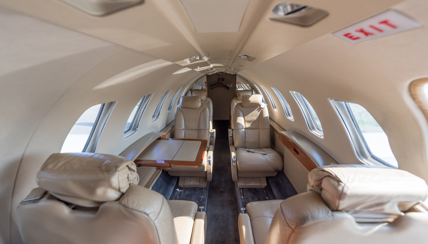 Cessna Citation CJ2 Interior View Aft