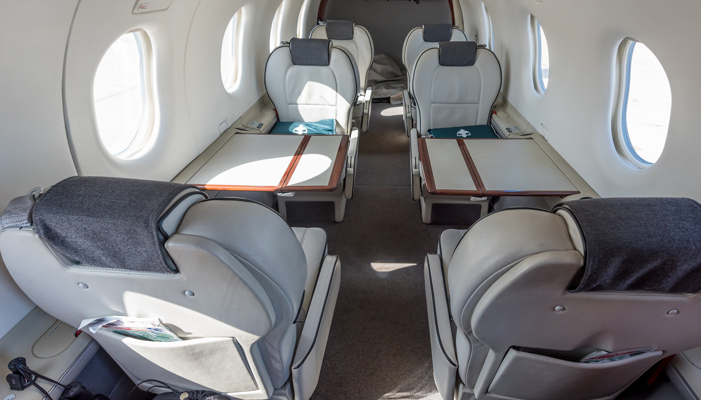 Pilatus PC-12/47 Interior View Aft