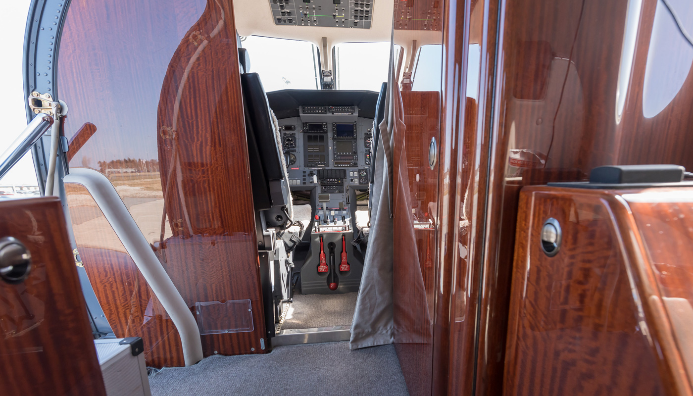 Pilatus PC-12/47 Front Lavatory And Galley