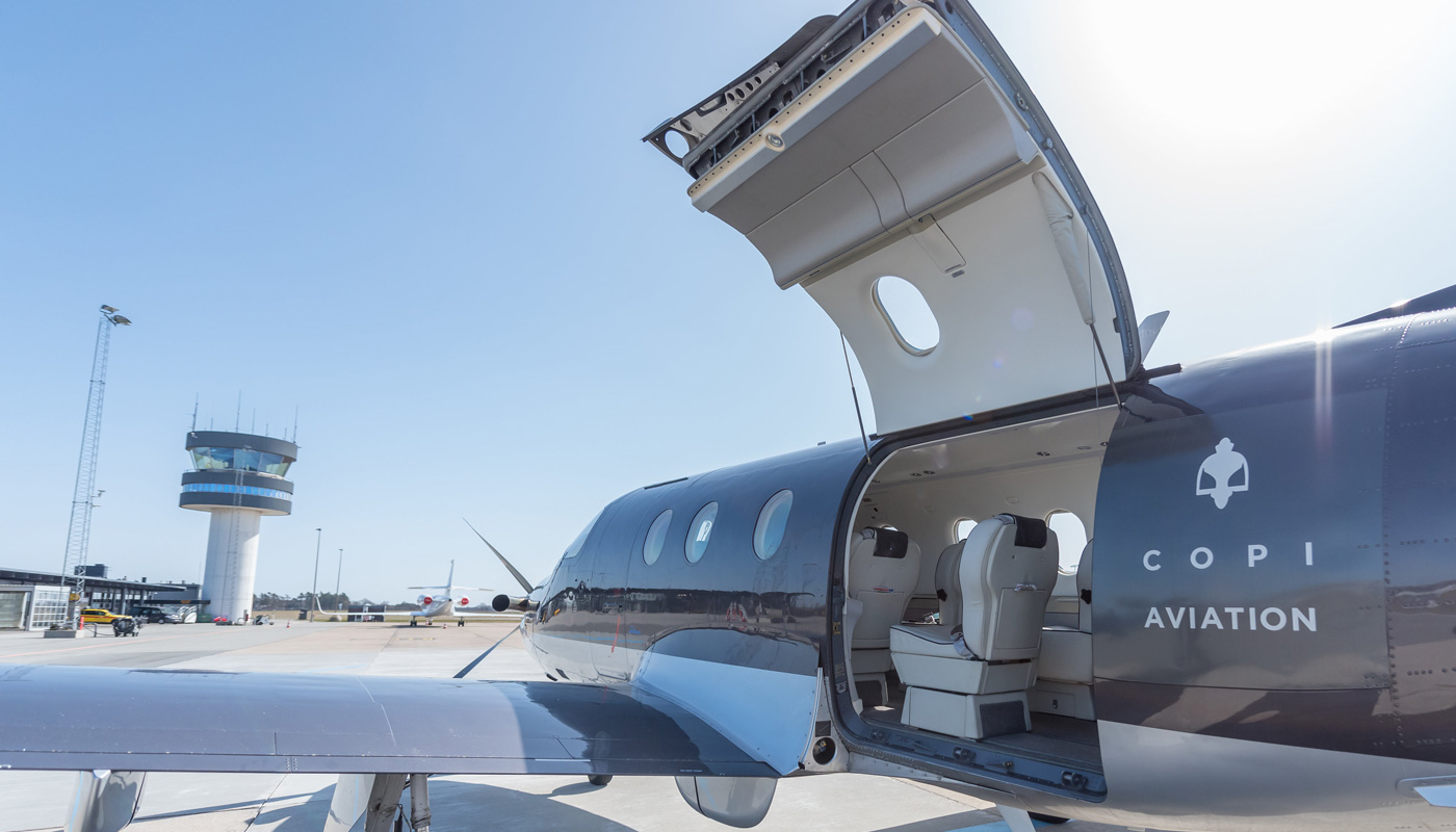 Pilatus PC-12/47 Cargo Door Open