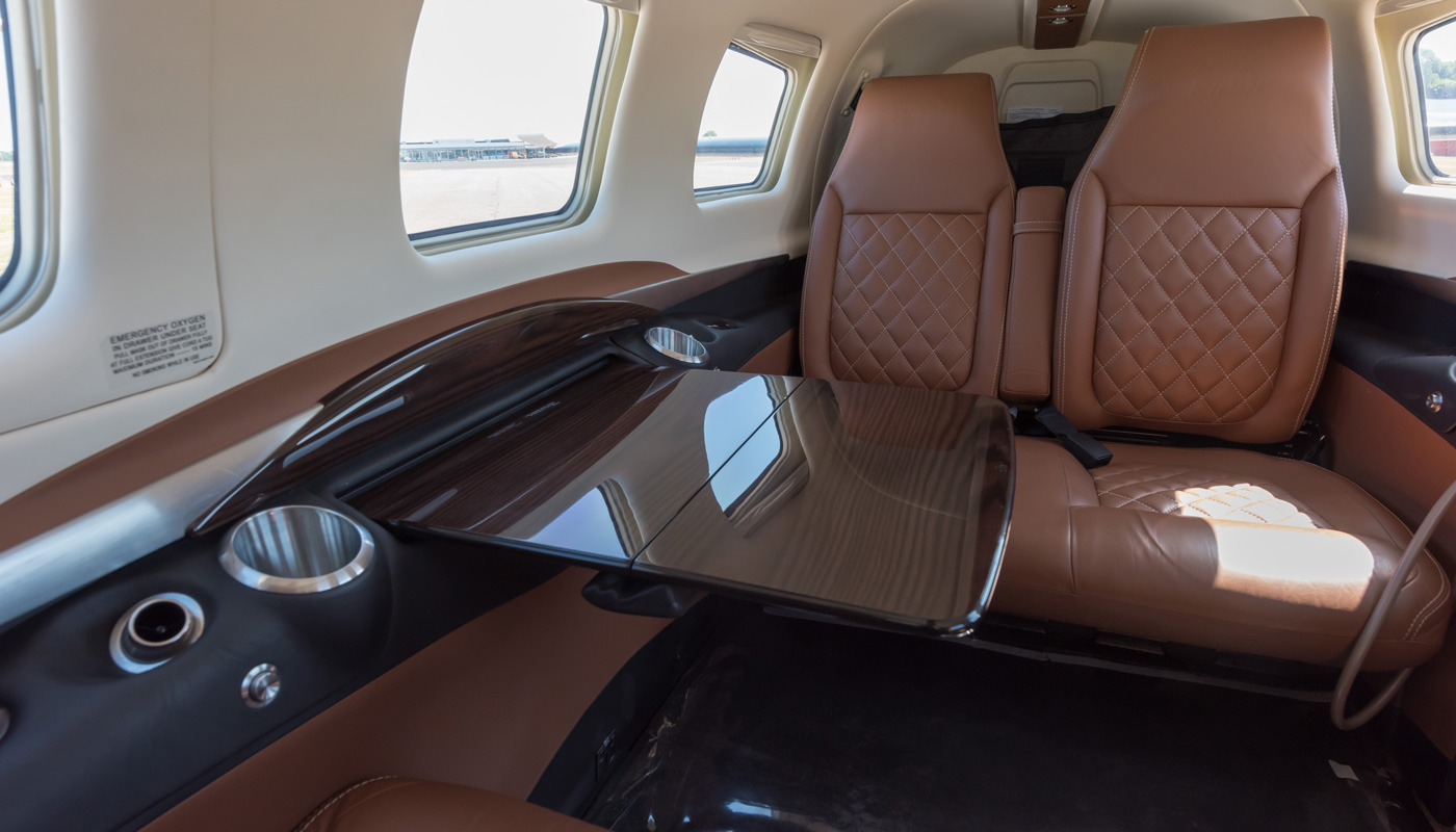 M600 Beautiful EXP Interior In Cognac Leather