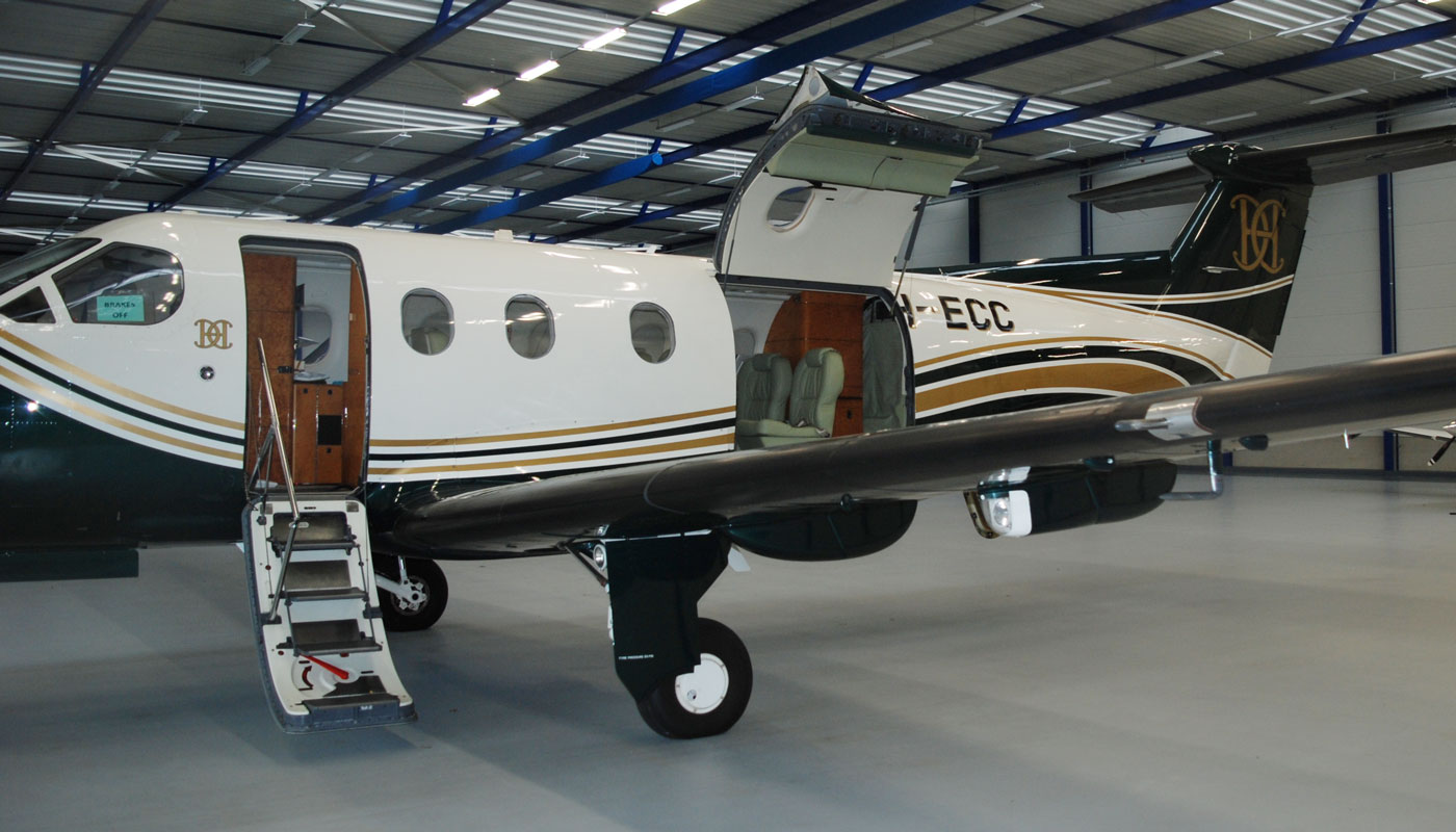 Pilatus PC 12/45 Stairway And Cargo Door Open