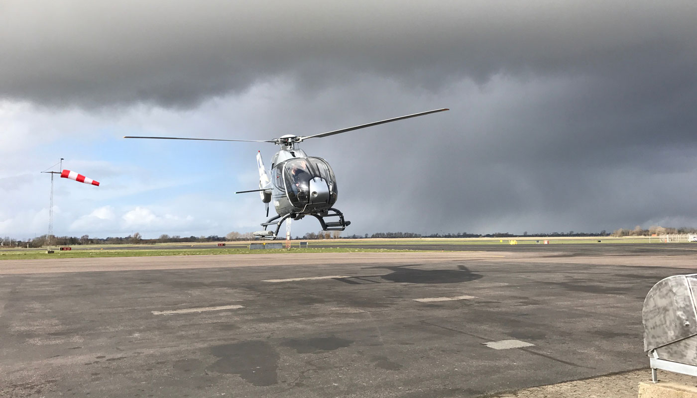Airbus EC120B Helicopter Takeoff