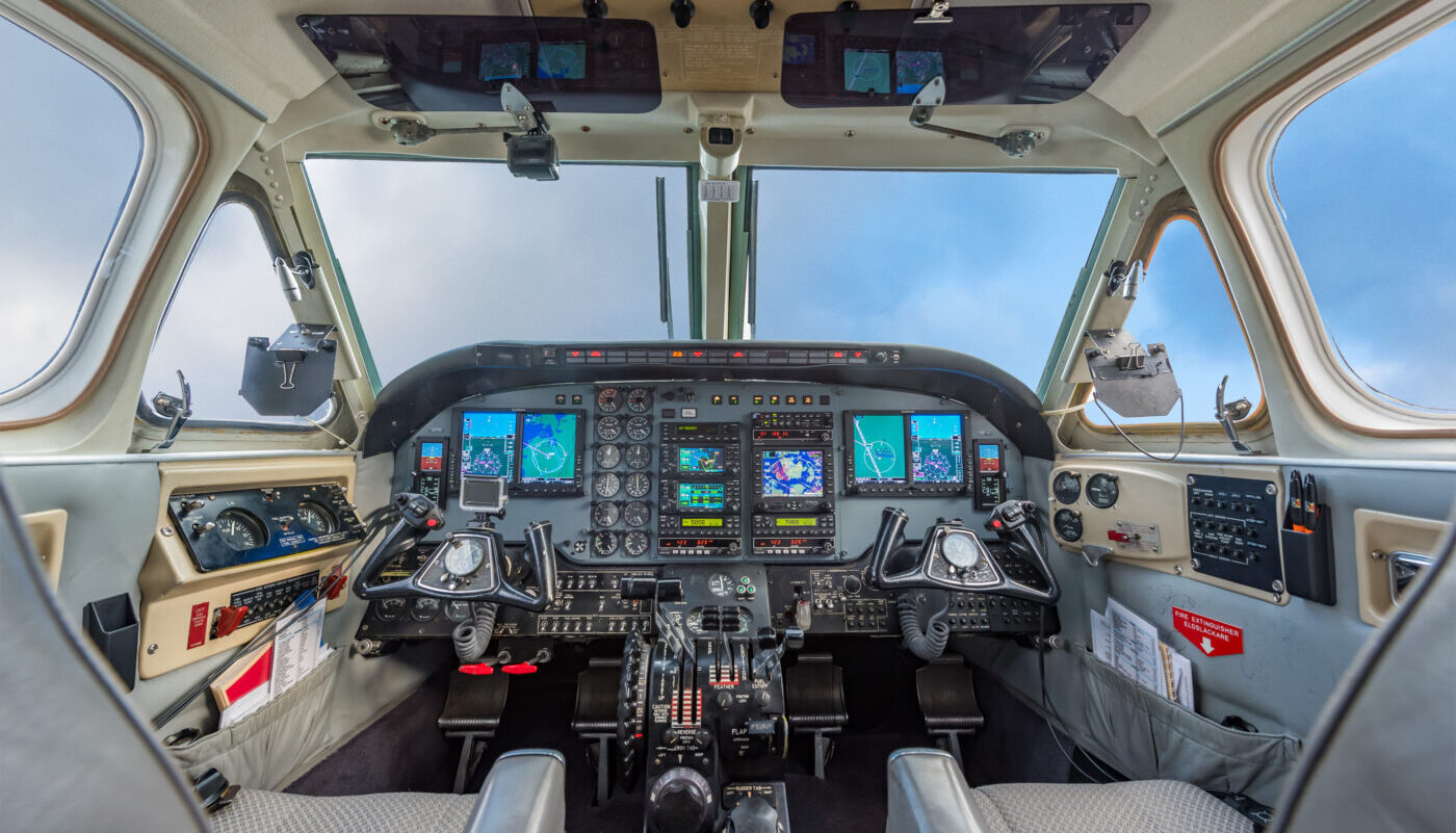 Picture Of The 1977 King Air C90, SE-IIB, Updated Avionics.