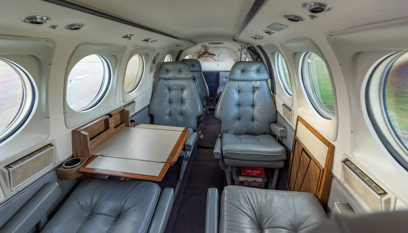 1977 Beech King Air C90, SE-IIB, Interior View