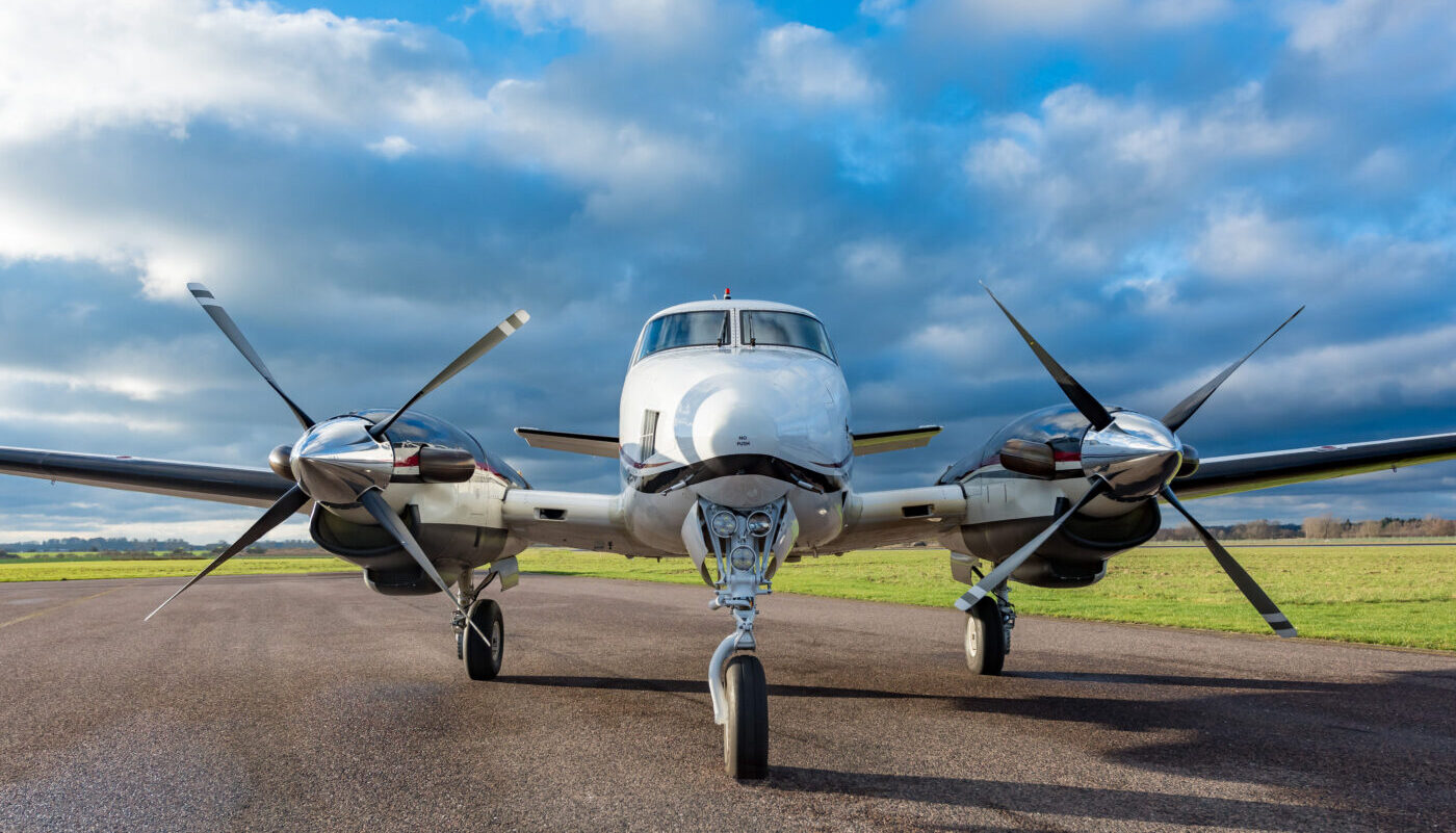 1977 Beech King Air C90, SE-IIB, Front View