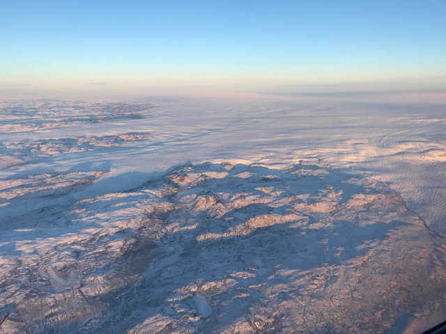 The icecap in Greenland