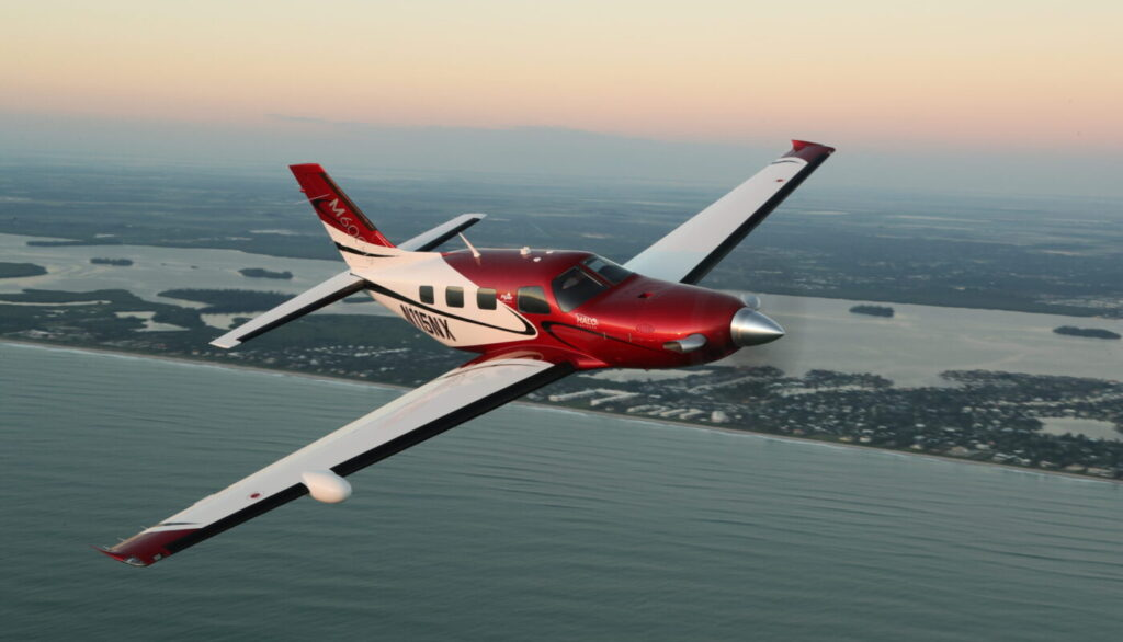 Piper M600/SLS over water