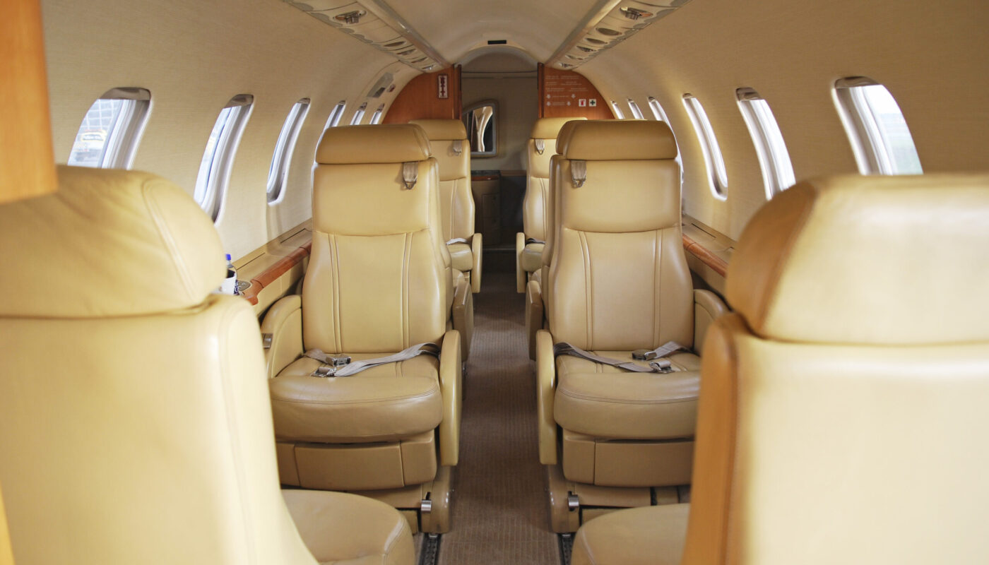 Learjet 45, OY-GIC, Interior Back