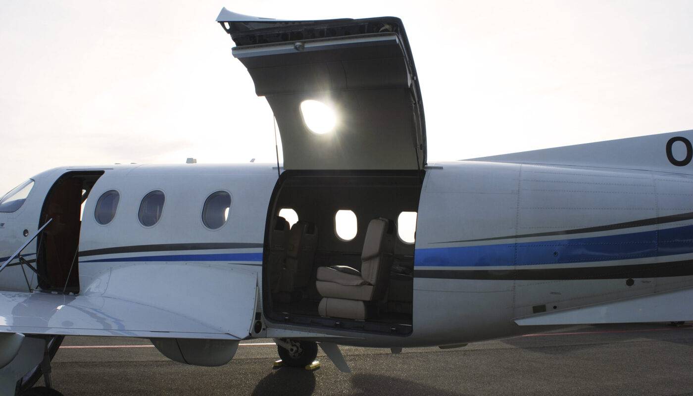 Pilatus PC-12, OO-JCV Cargo Door