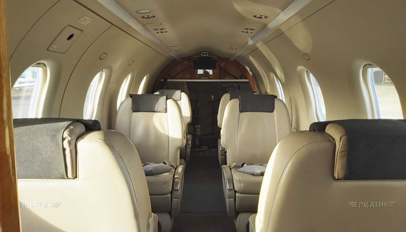 Pilatus PC-12, OO-JCV, Interior Back