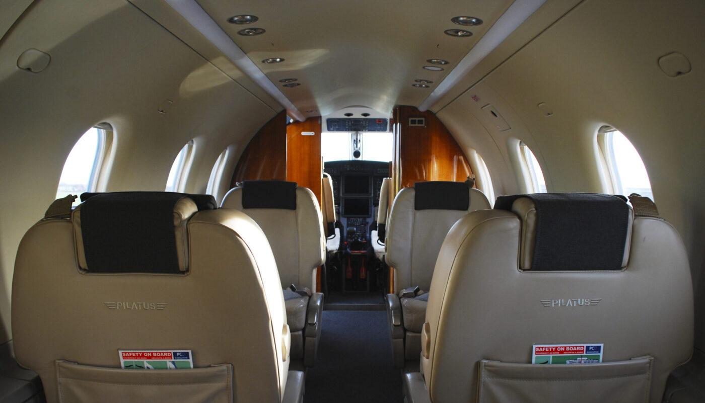 Pilatus PC-12, OO-JCV, Interior Front
